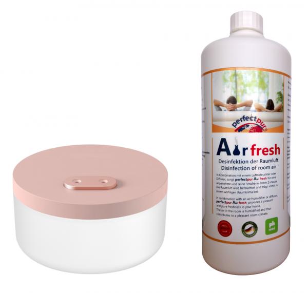 Luftbefeuchter Tisch-Akku-System roségold - SET